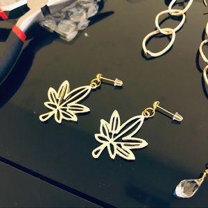 3 FOR $10 | Golden Trendy Leaves Earrings